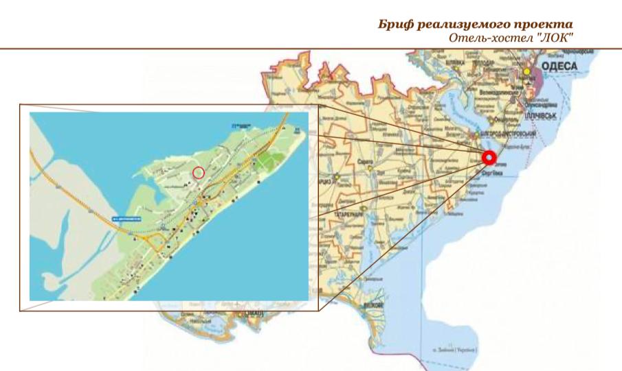 инвестиционный проект в Украине на карте