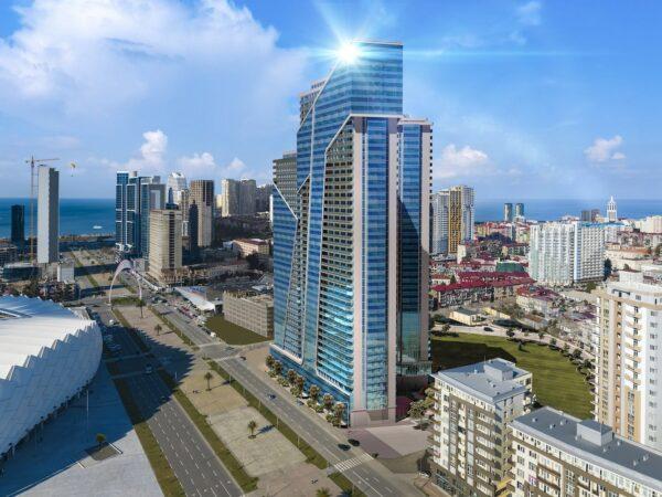 Инвестиции в доходную недвижимость в Грузии: покупка апартаментов в Hilton Garden Batumi в Батуми — от 520 USD за 1 кв.м.
