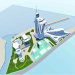 Проектный вид и план расположение комплекса новостройки в Батуми