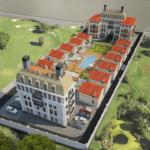 3D модель плана размещения домов-min